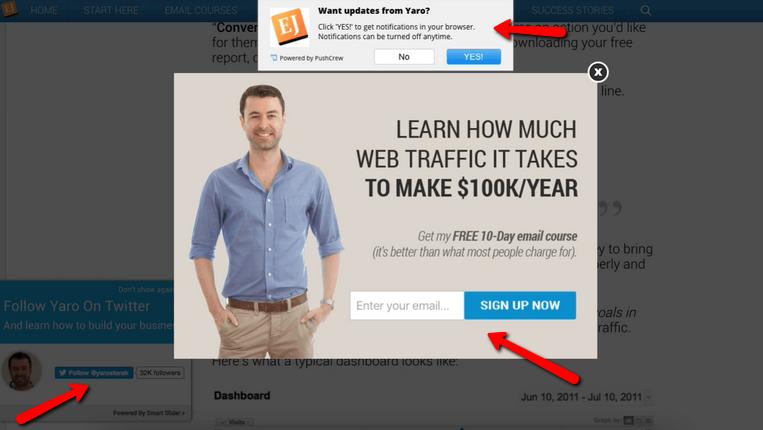 Schlechtes Beispiel für eine Webseiten