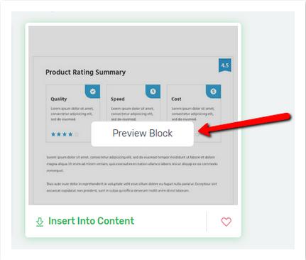 Content Block Vorschau