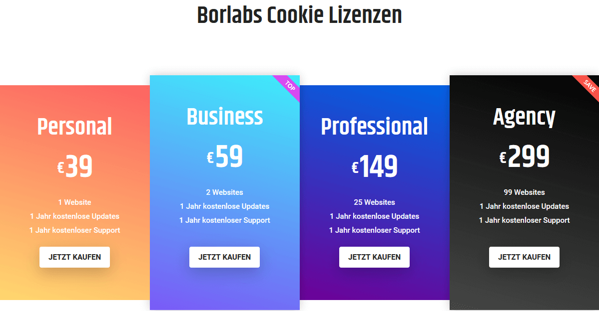 Cookie Lizensen Borlabs